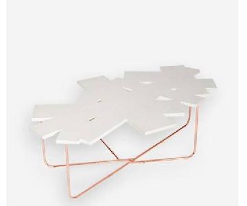 Sauder White Confetti Coffee Table