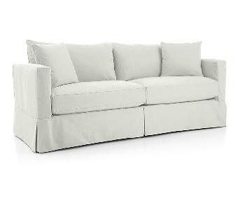 Crate & Barrel Willow Slipcover Sleeper Sofa
