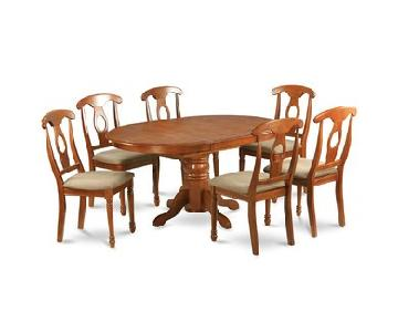 East West Furniture 7 Piece Dining Set w/ Butterfly Leaf
