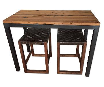 Room & Board Parsons Dining Table w/ 2 Stools