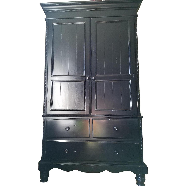Solid Wood Armoire - AptDeco