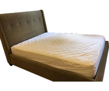 Crate & Barrel Upholstered Queen Bed