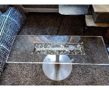 Custom Lucite TV/Coffee Table