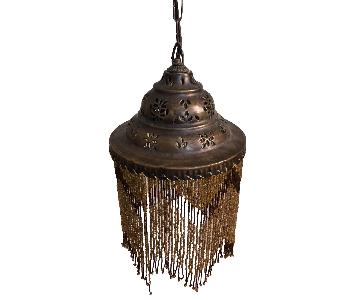 ABC Carpet and Home Beaded Mini Chandelier