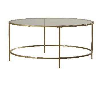 House of Hampton Alsager Glass Top Round Coffee Table