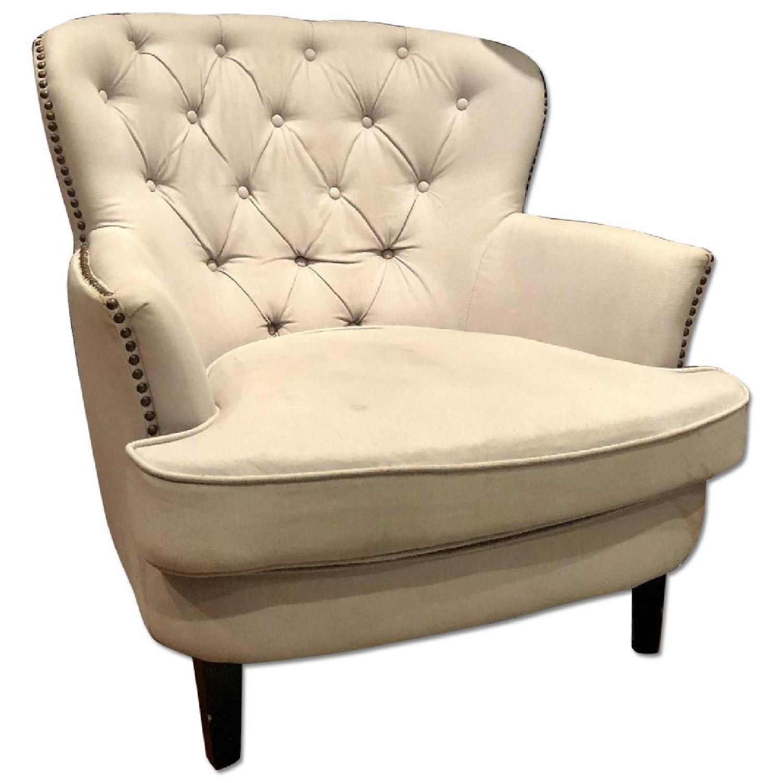 Home Goods Accent Chair W/ Curves U0026 Silver Nailhead Trim ...