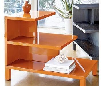 West Elm Orange Side Table