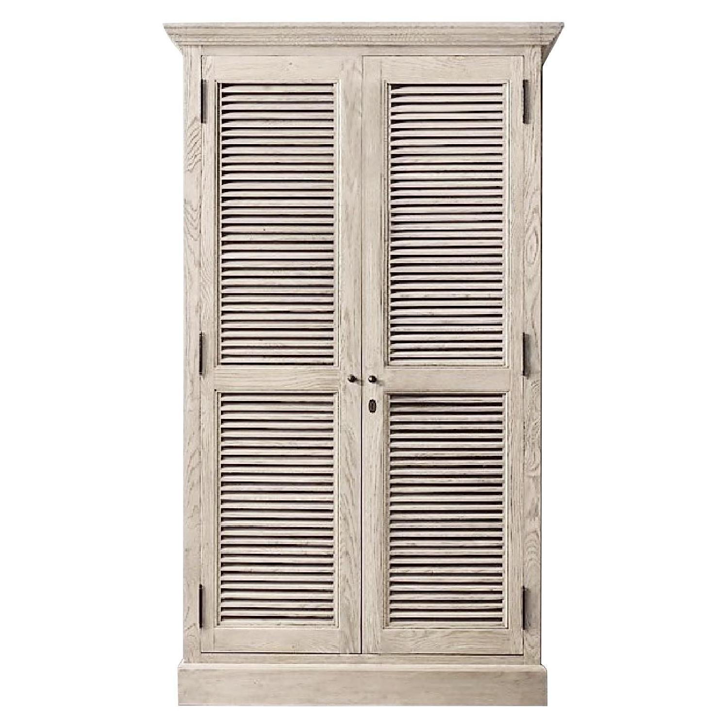 Charmant Restoration Hardware Shutter Single Armoire ...