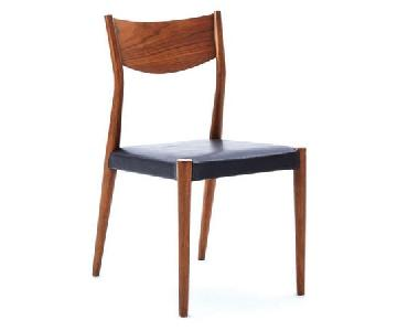 West Elm Tate Obsidian Leather Dining Chair