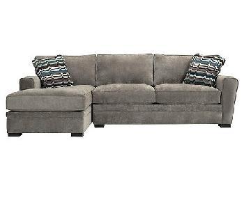 Raymour & Flanigan Artemis-II Microfiber Sectional Sofa