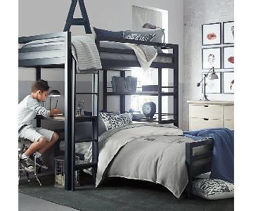 Restoration Hardware Industrial Twin Loft Bed w/ Desk