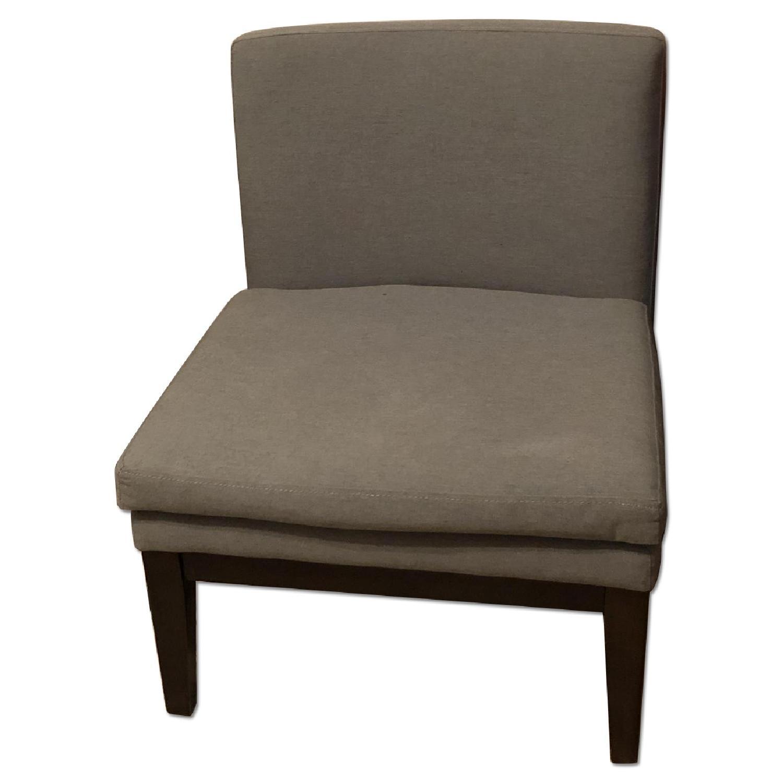 West Elm Grey Slipper Chair