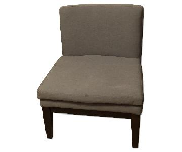 West Elm Grey Slipper Chair
