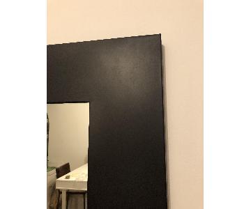Crate & Barrel Black Metal Mirror