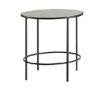 West Elm Foxed Mirrored Side Table