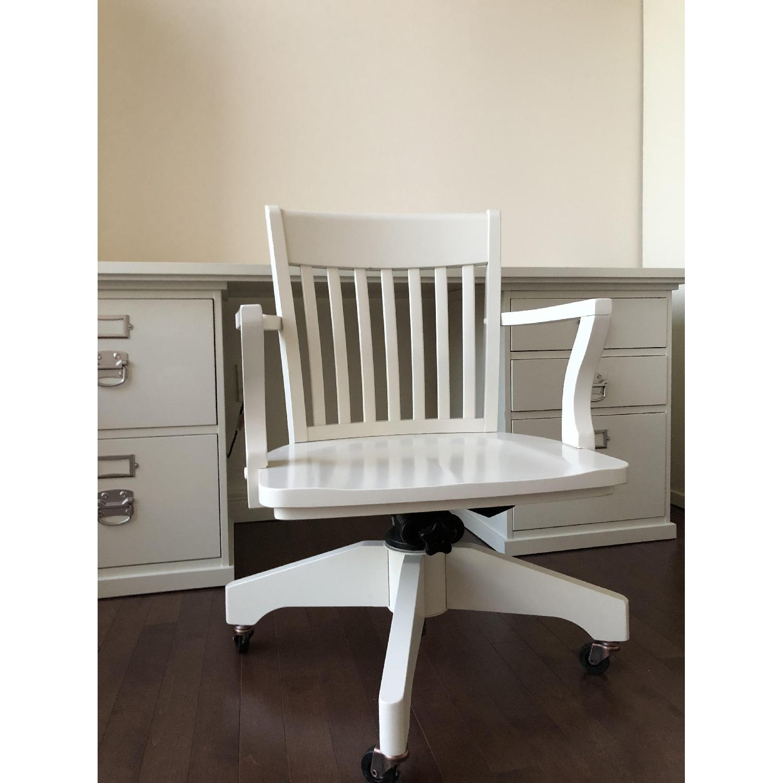 ... Pottery Barn Swivel Desk Chair In Antique White 0 ...