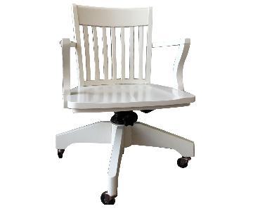 Pottery Barn Swivel Desk Chair in Antique White