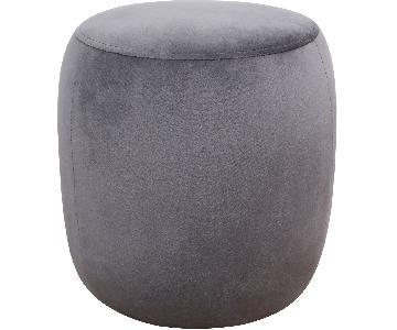 TOV Furniture Willow Grey Velvet Ottoman
