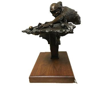 Bronze Sculpture of Billiard Player by George W. Lundeen