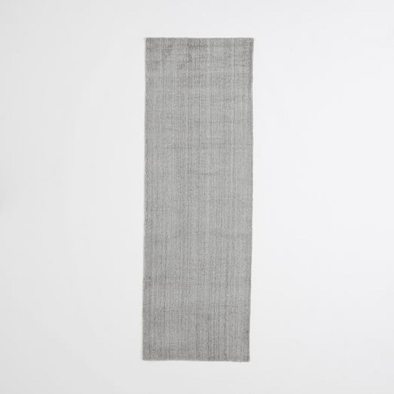 West Elm Hand-Loomed Gray Rug
