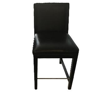 Room & Board Black Calfskin Leather Counter Stool