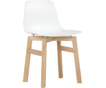 CB2 Petite White Dining Chair