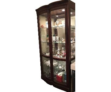 Bernhardt Paris Collection Curio Cabinet in Cherry Wood