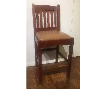 Stickley Counter Height Mission Stools