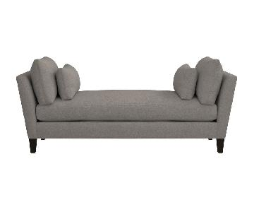 Crate & Barrel Daybed Marlowe in Grey/Brown