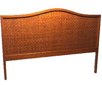 Custom Wood Woven King Size Headboard