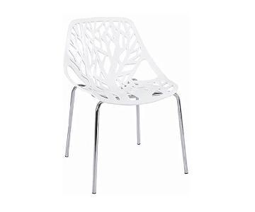 White Sapling Accent Chair