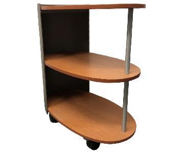 Steelcase 3 Shelf Printer Cart on Wheels