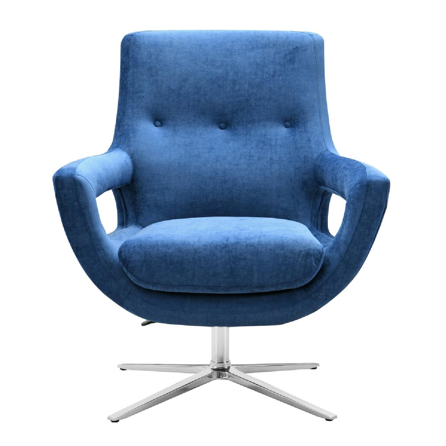 TOV Furniture Fifi Navy Swivel Chair