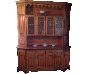 Hutch Fine Furniture China Cabinet & Display w/ Storage