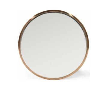 Christopher Knight Home Rose Gold Circular Mirror