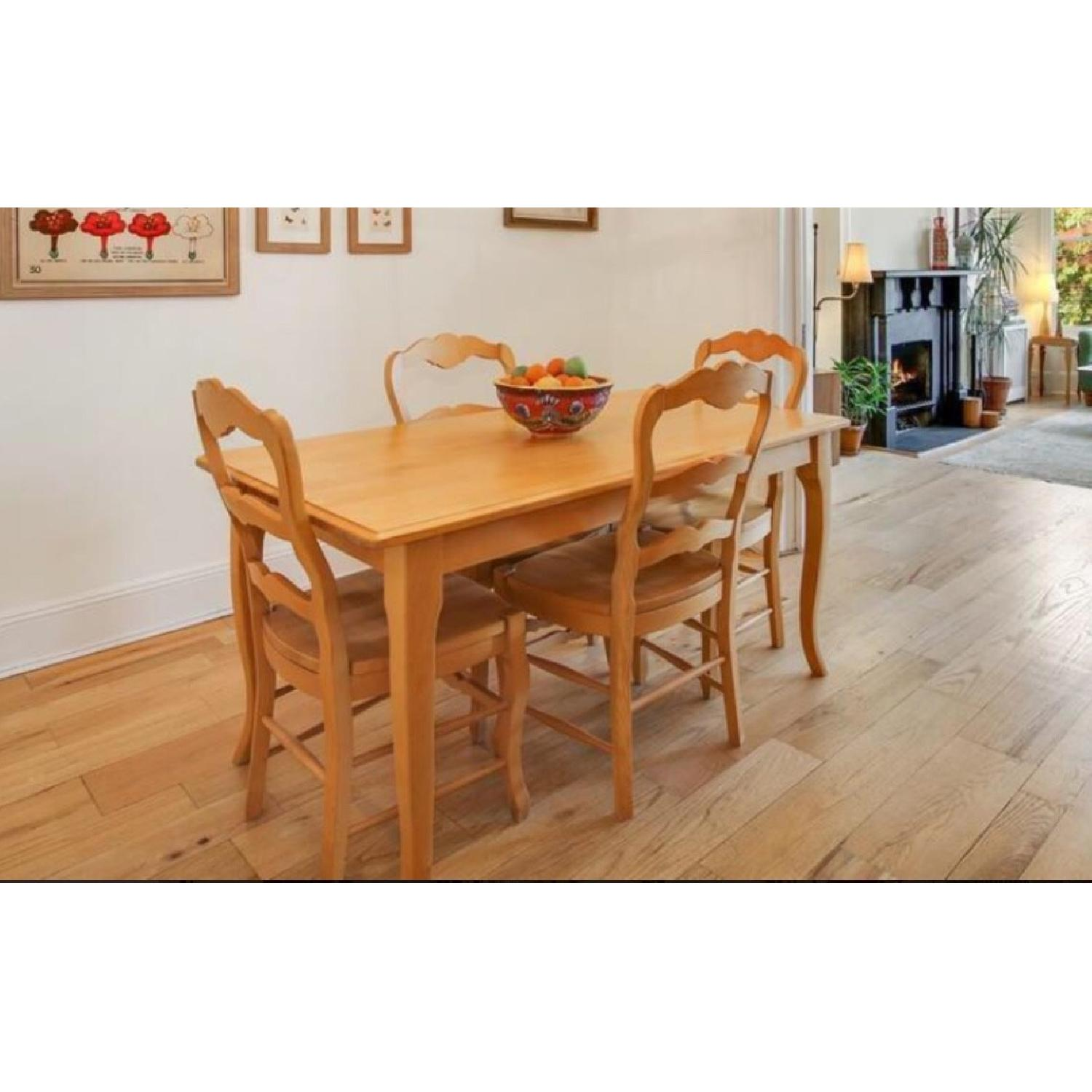 Queen Anne Revival Dining Table W 4 Chairs