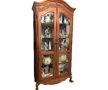 Country French Curio Cabinet
