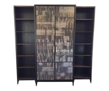 Custom Cabinet w/ Side Bookcases