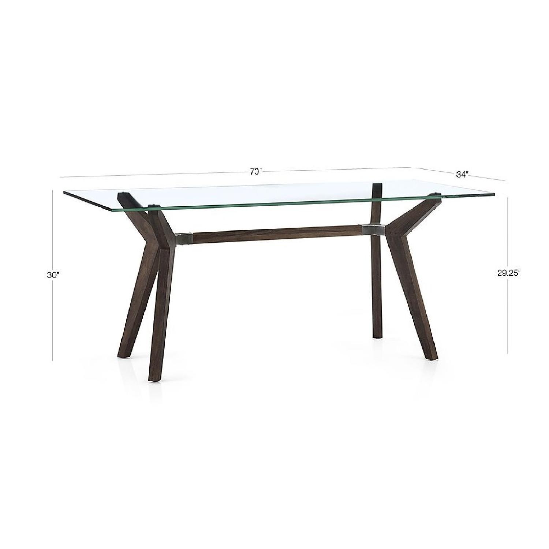 Crate & Barrel Glass Desk/Table in Bourbon-0