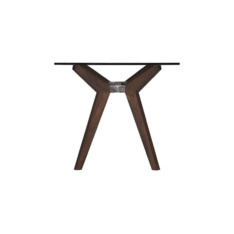 Crate & Barrel Glass Desk/Table in Bourbon-1