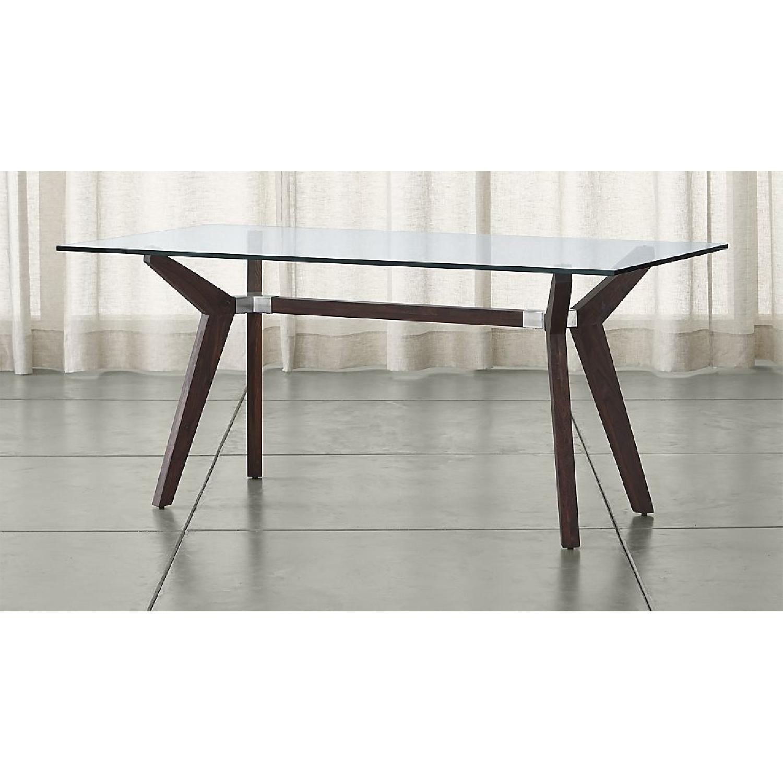 Crate & Barrel Glass Desk/Table in Bourbon-2