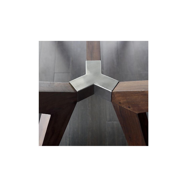 Crate & Barrel Glass Desk/Table in Bourbon-3