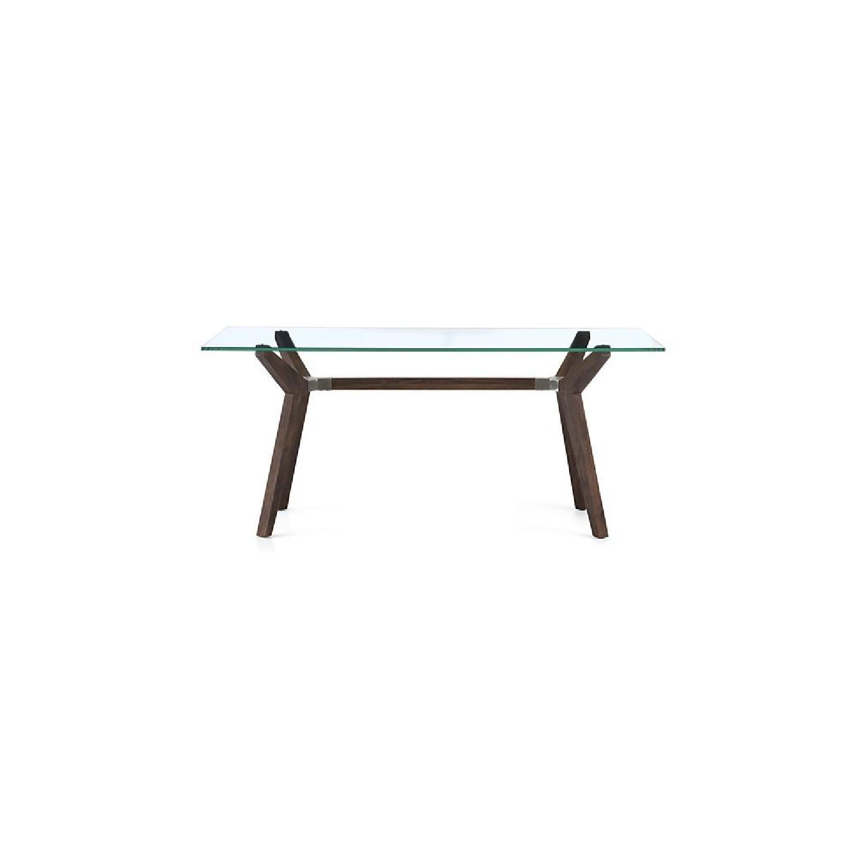 Crate & Barrel Glass Desk/Table in Bourbon