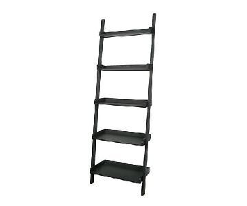 Leaning Ladder Shelves in Black