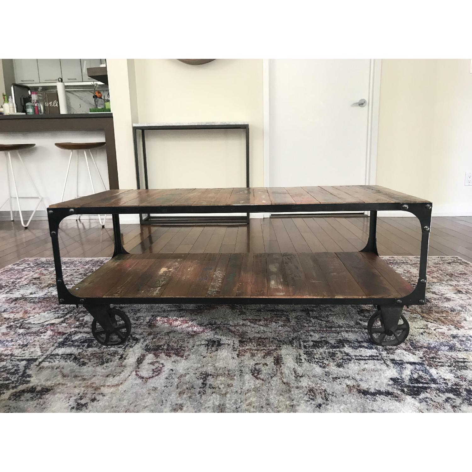 From The Source Reclaimed Wood Coffee Table AptDeco