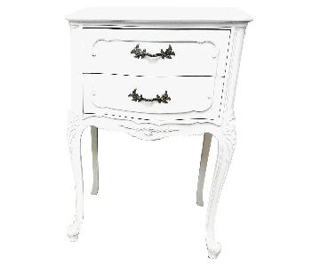 Louis XV Marble Top Side Tables Nightstand