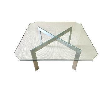Barcelona Style Mid Century Glass Coffee Table