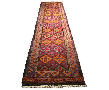 Caucasus Vintage Handmade Runner Kilim