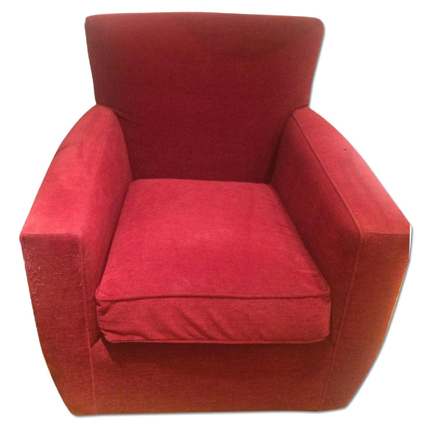 Picture of: Crate Barrel Red Swivel Chairs Pair Aptdeco