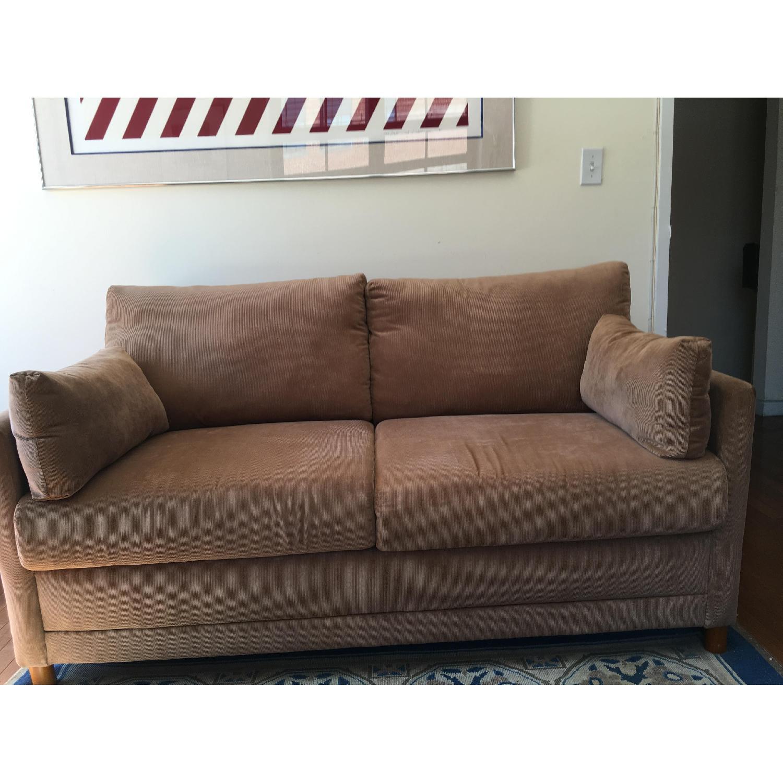 - Jennifer Convertibles Corduroy Softee Sleeper Sofa - AptDeco